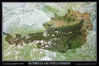 Austria satellite map