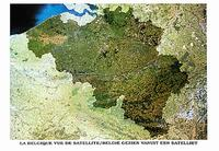 Belgium satellite map