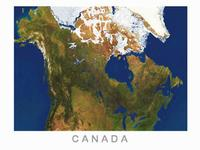 Canada satellite map