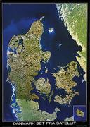 Denmark satellite map