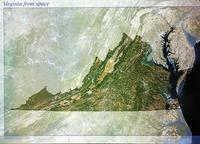 Virginia satellite map