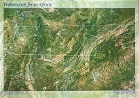 Tennessee satellite map