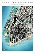 Downtown Manhattan satellite map