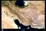 Iran satellite image poster