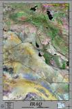 Iraq satellite image poster
