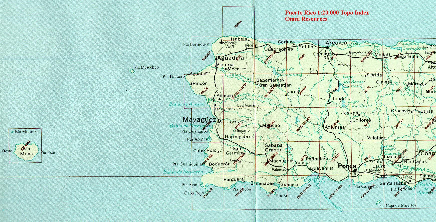 Puerto Rico Maps From Omni Resources - Maps puerto rico