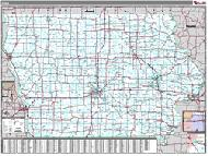 Iowa Wall Map