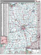 Indiana Wall Map