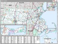 Massachuseetts Wall Map