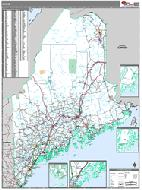 Maine Wall Map