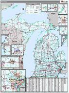 Michigan Wall Map