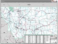 Montana Wall Map