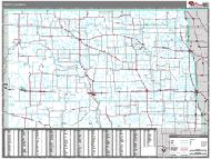 North Dakota Wall Map