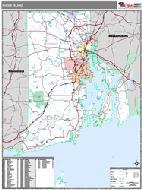 Rhode Island Wall Map