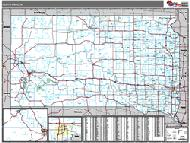South Dakota Wall Map