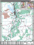 Utah Wall Map