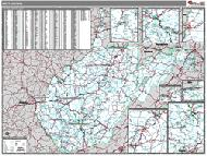 West Virginia Wall Map