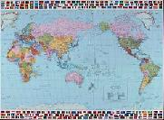 World maps from omnimap the worlds leading international map store world map pacific centered 130000000 hema with time zones and flags of the world gumiabroncs Images