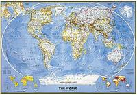 National Geographic World Political Map.World Classic Wall Maps From Omnimap The World S Leading