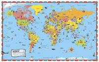 Kids Illustrated World Map